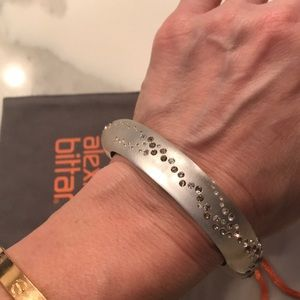 Alexis Bittar lucite & crystal studded bangle